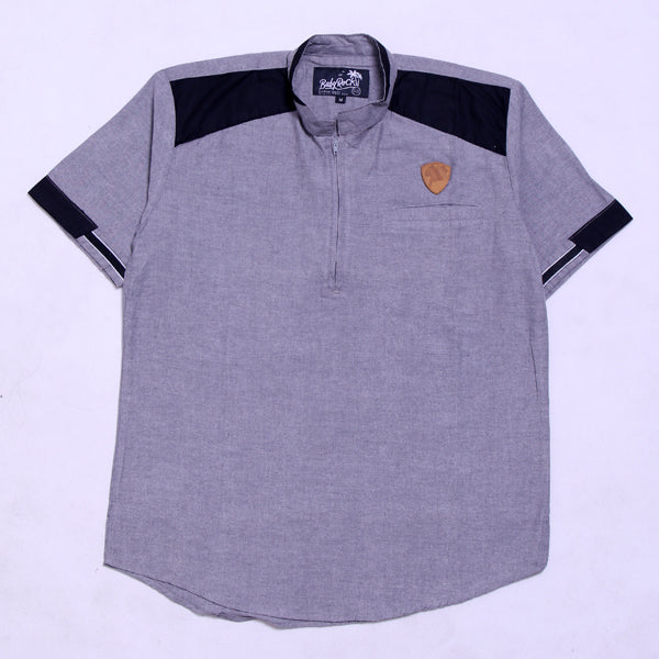 BABY ROCK KOKO SHIRT COMBINASI GREY