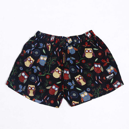 Boxer Pants Bird Black
