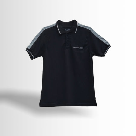 DOUBLE ONE Black Classic Polo Shirt Default