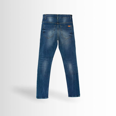 DOUBLE ONE Blue Stretch Jeans Default