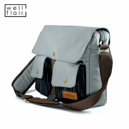 WELLFLAIR DARUN Messenger Bag Grey
