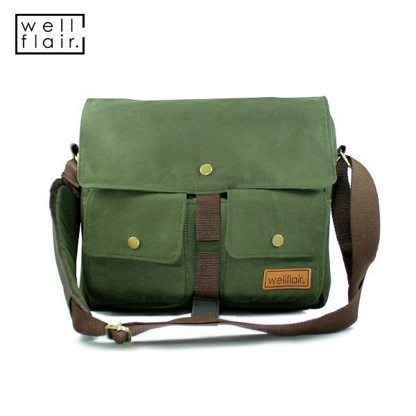 WELLFLAIR DARUN Messenger Bag Army