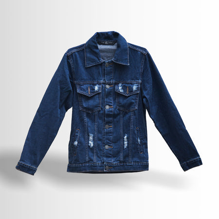 DOUBLE ONE Black Sandwashed Denim Jacket Default