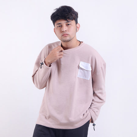 Crewneck  Dusty With Pocket Default