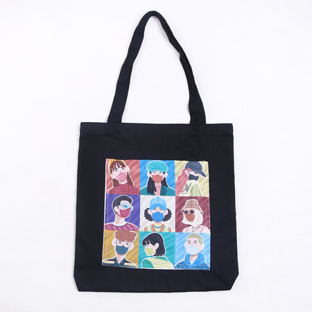 Totebag Face Black