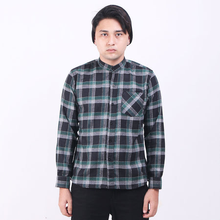 Kemeja Flannel Green In Misty Default