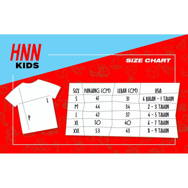 HNN KIDS Kaos Anak Character Train White Default