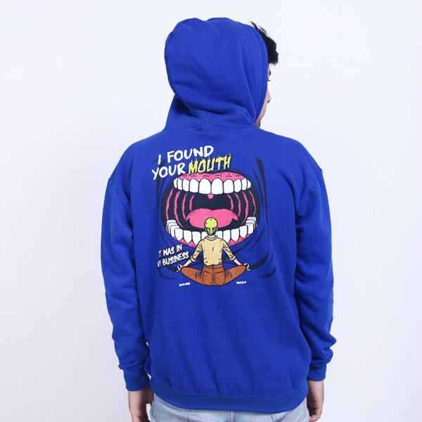 Hoodie Pullover I Found Blue