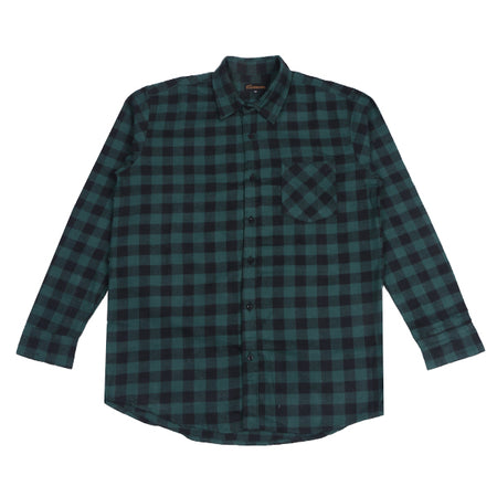 Kemeja Flannel MANUEVER Green Block Default