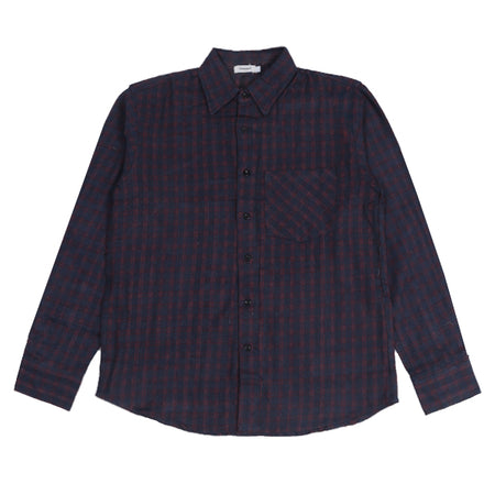 Kemeja Flannel MANUEVER Red Navy Stripe Default