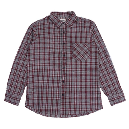 Kemeja Flannel MANUEVER Red White Default