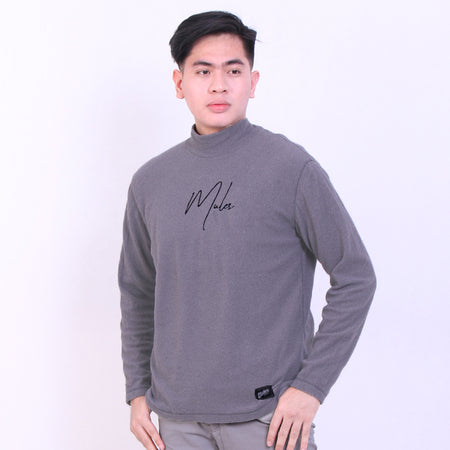 Mules Grey Sign Black