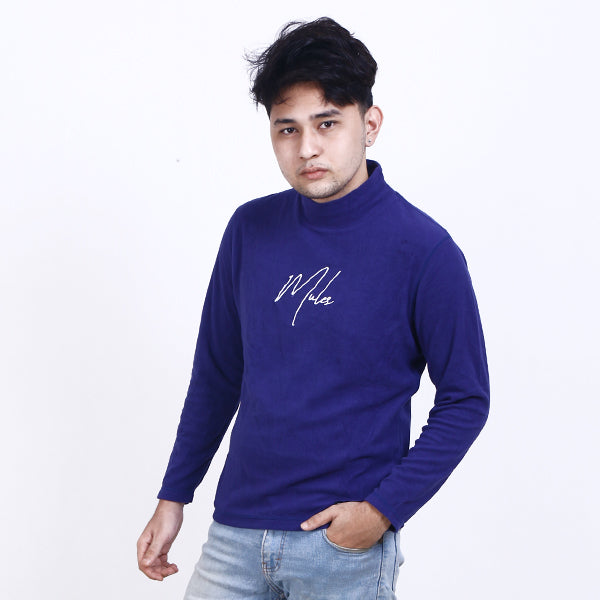 Turtleneck Sign White Blue