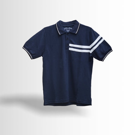 DOUBLE ONE Navy Classic Polo Shirt Default