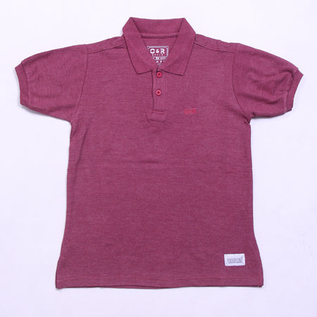FULL MAROON POLO SHIRT
