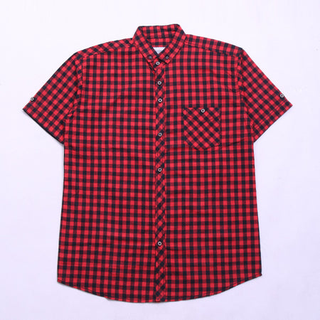 SMALL BLACK RED BOX FLANNEL