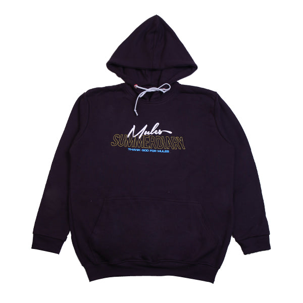 Hoodie Purple Summer Diary Black