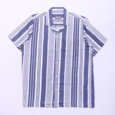 VERTICAL LINE SHIRT NAVY SS