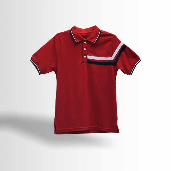 DOUBLE ONE Red Classic Polo Shirt Default