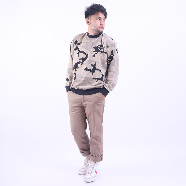 Crewneck Sweat Sand Army