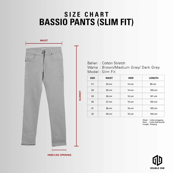 DOUBLE ONE Grey Stretch Chino Default