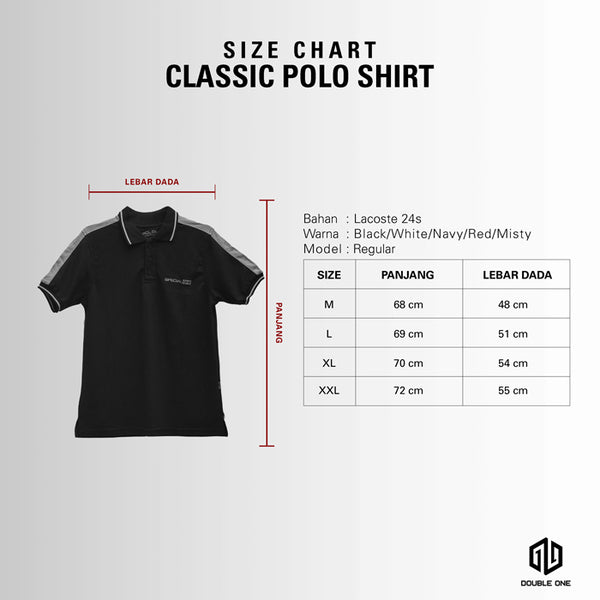 Polo Shirt DOUBLE ONE Red Classic Default