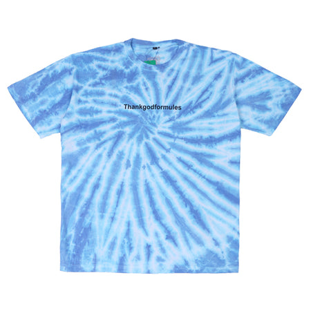 KAOS TIE DYE THANK GOD BLUE