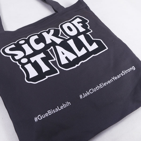 Totebag Grey Sick Of Default