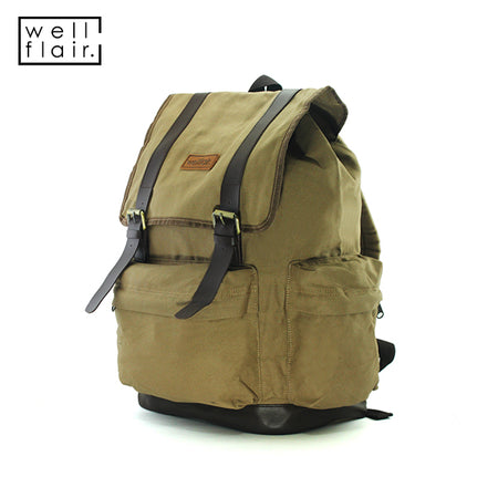 WELLFLAIR UNISEX Backpack Mocca