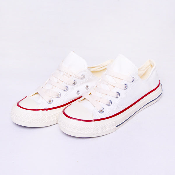 Women Sneakers White Strip Red Black Default