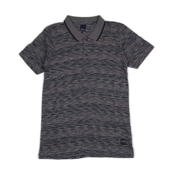 W K N D WPM.2.58 POLO SHIRT GREY/NAVY