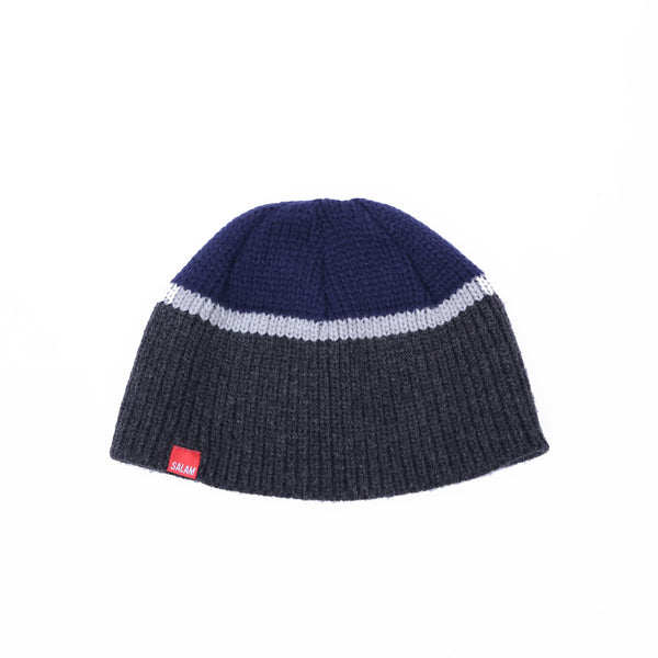 SHORT BEANIE COMBINATION NAVY-GREY