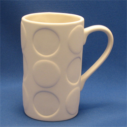 LATTE MUG WITH LARGE DOTS