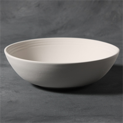 STONEWARE Rimmed Bowl