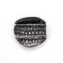 Load image into Gallery viewer, Blue Black perforated Brooch