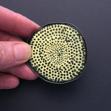 Load image into Gallery viewer, Textured Yellow 'Biscuit' Brooch