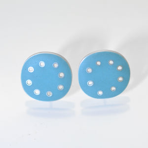 Stud fitting, Earrings Turquoise