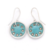 Load image into Gallery viewer, Small turquoise blue earrings