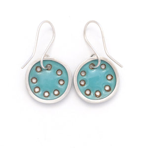 Small turquoise blue earrings