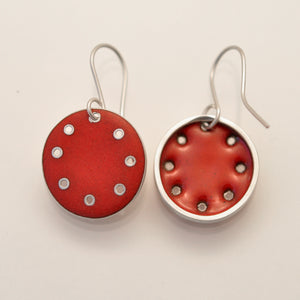 Red Honesty earrings, medium