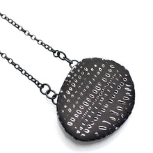 Load image into Gallery viewer, Necklace, Blue-Black & Silver with oxidised silver chain
