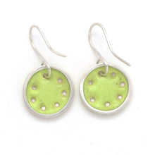 Load image into Gallery viewer, Small lime-green earrings
