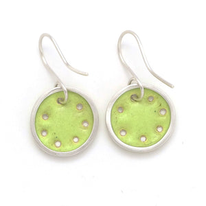 Small lime-green earrings