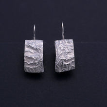 Load image into Gallery viewer, 'Molten' silver earrings