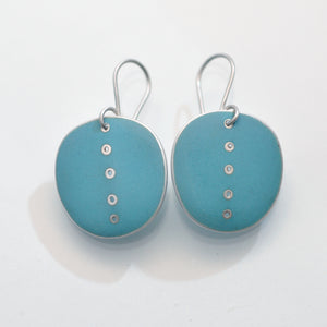 Large 'Button' earrings, Turquoise