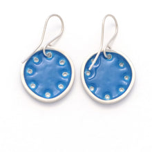 Load image into Gallery viewer, Blue & silver earrings