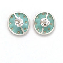 Load image into Gallery viewer, Duck-egg green stud earrings