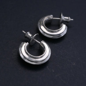 Ridged Earrings, stud fitting
