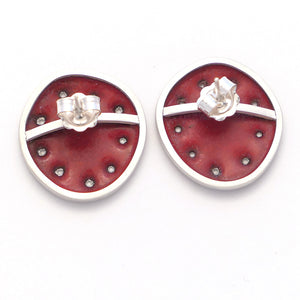 Red stud-earrings