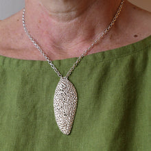 Load image into Gallery viewer, Long 'Porous' perforated pendant